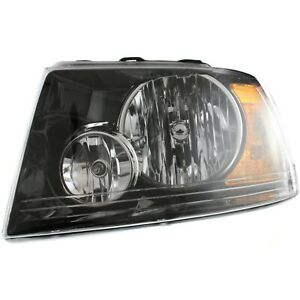 Headlight For 2003 2004 2005 2006 Ford Expedition Left Black Housing With Bulb
