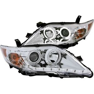 Anzo 121441 Headlight For 2010 2011 Toyota Camry Sedan Left And Right With Bulb