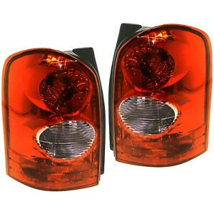 Set Of 2 Tail Light For 2002 2003 Mazda Mpv Es Lh Rh W Bulb s