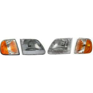 Headlight Kit For 1997 2003 Ford F 150 Left And Right 4pc Capa
