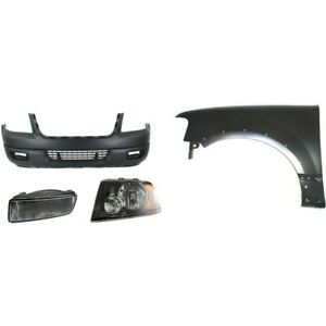 Bumper Cover Kit For 2004 2006 Ford Expedition Front 4pc