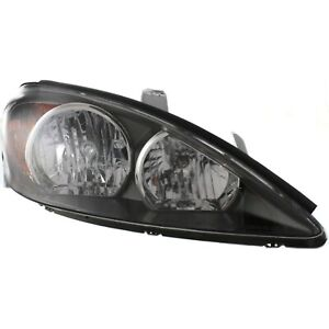 Headlight For 2002 2003 2004 Toyota Camry Right Black Housing With Bulb