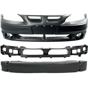 Bumper Cover Kit For 99 2005 Pontiac Grand Am 3pc