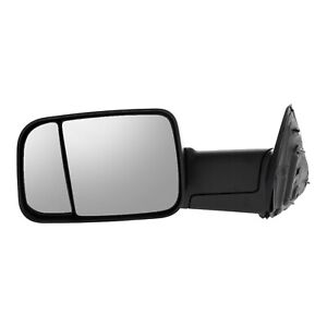 Side View Tow Mirror Manual Flip Up Textured Lh Left Driver Side For Dodge Ram
