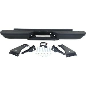 Step Bumper For 1988 98 Chevy C1500 With Oe Type Bracket Powdercoated Black Rear