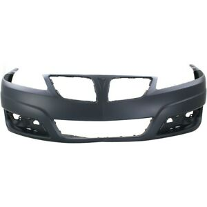 Front Bumper Cover For 2009 2010 Pontiac G6 W Ctf Package Primed Plastic