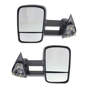 Manual 88 98 Chevy gmc C k 1500 2500 3500 Tahoe Towing Tow Side Mirrors Pair