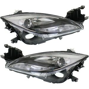Headlight Set For 2011 2012 2013 Mazda 6 Sedan Left And Right Hid 2pc