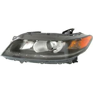 Headlight For 2013 2015 Honda Accord Coupe Left Black Housing With Bulb Capa