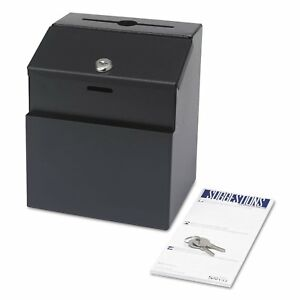 Safco Steel Suggestion key Drop Box With Locking Top 7 X 6 X 8 1 2