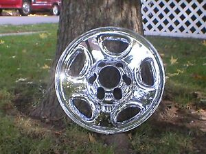 2005 2006 2007 Chevy Silverado 1500 6 Lug Chrome Wheel Skins 16