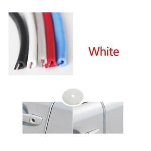 White Car Window Door Edge Protect Rubber Seal Trim Molding Strip Universal 5m