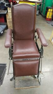 F S Betz Company Medical Dental Chair Antique Industrial Iron