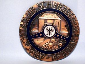 German Adac Car Badge Schweigen weintor