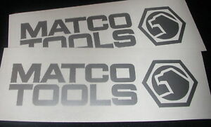 2 Matco Tools 6 Silver Decals Stickers For Toolbox Truck Window Shop