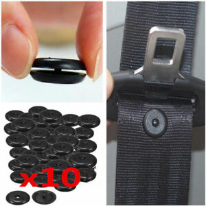 10pair Clip Safety Fasteners Seat Belt Stopper Retainer Stop Button Limit Buckle