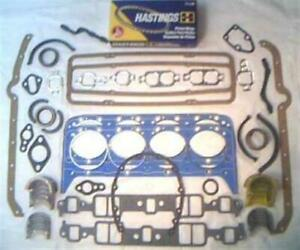 Chevy Engine Rebuild Kit Rings Rod Mains Gaskets 305 327 350 1968 85