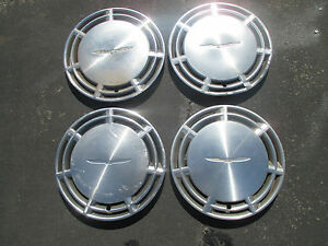 Genuine Ford Thunderbird 14 Inch Metal Hubcaps Wheel Covers