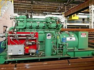 Genset Waukesha 3521gl Engine Kato Natural Gas Generator 525 Kw 1603 Hours