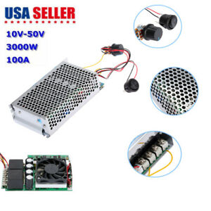 10 50v 3000w Programable Reversible Dc Motor Pwm Control Speed Controller