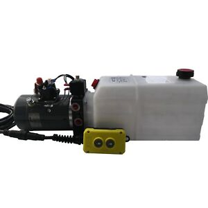 Dump Trailer Hydraulic Power Unit Double Acting 12v 6qt Tank