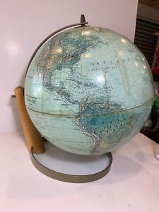 Vintage 70s Style Book Of Knowledge 12 True To Life Art Deco Globe