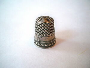 Antique Silver Diamond Thimble By Stern Bros Co