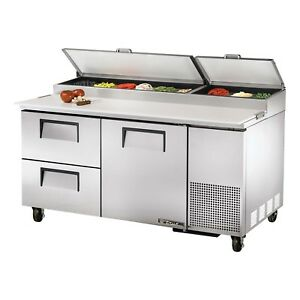 True Tpp 67d 2 67 1 Door And 2 Drawer Refrigerated Pizza Prep Table 20 6 Cu
