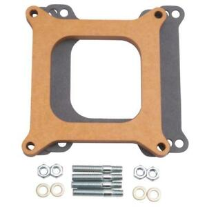 Edelbrock Carburetor Spacer 8724 Square Bore 4150 1 2 Open Wood