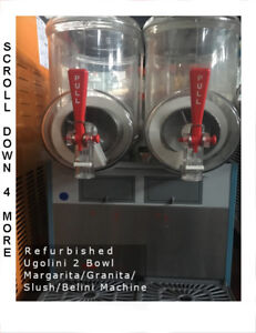 Ugolini 2 Bowl Granita Margarita Bellini Slush Machine