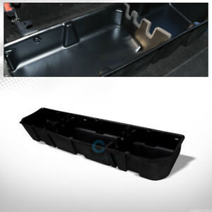 Fit 15 18 Ford F150 f250 Crew Blk Gearbox Under Seat Storage Cargo Organizer Box