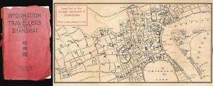1920 Cook City Map Or Plan Of The International Settlement In Shanghai China