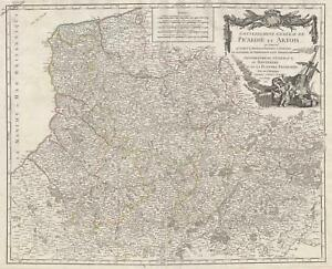 1753 Vaugondy Map Of Picardy Picardie And Artois