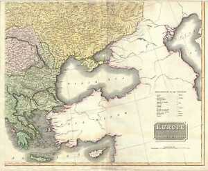 1817 Thomson Map Of Greece The Balkans And Ukraine