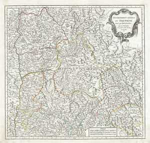 1751 Vaugondy Map Of The Dauphine Region Of France French Riviera