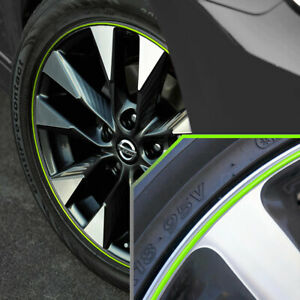 Wheel Bands Neon Green In Silver Pinstripe Rim Trim For Nissan Sentra Full Kit