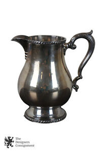 Antique Wallace Melford Silverplate Pitcher Creamer Tea Coffee Pot Water Jug 9