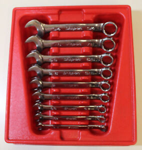 Snap on Oexs709b 9pc 6 point Sae Flank Drive Short Combination Wrench Set