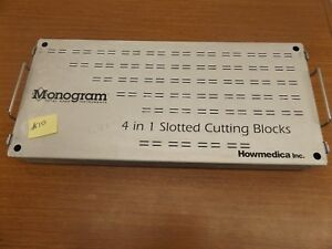 Howmedica Monogram Total Knee Instruments 4 1 Slotted Cutting Blocks Partial