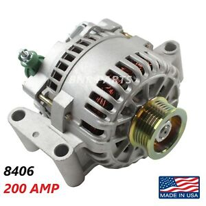 200 Amp 8406 Alternator Ford Focus High Output Performance Hd New Usa