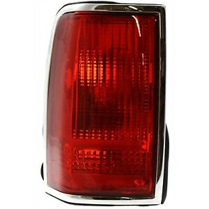 Halogen Tail Light For 1990 1997 Lincoln Town Car Left Red Lens
