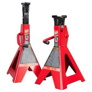 Torin Big Red 6 Ton Capacity Heavy Duty Double Locking Steel Jack Stands 1 Pair