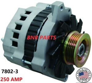 250 Amp 7802 3 Chevy Gmc 7 4l Truck New Alternator High Output 454 Performance