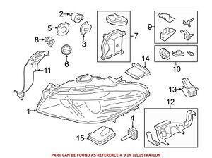For Bmw Genuine Headlight Restoration Kit Front Right 63117343918