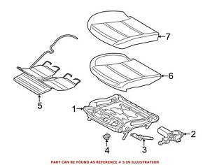 For Bmw Genuine Seat Lumbar Motor Front Right 52107317080
