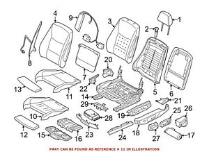 For Bmw Genuine Seat Cover Front Left 52107324161