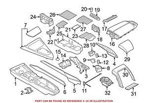 For Bmw Genuine Console Armrest Center 51169238310