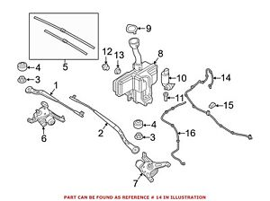 For Bmw Genuine Windshield Washer Nozzle Front 61667347668