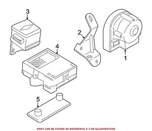 For Bmw Genuine Anti theft Alarm Control Unit 65756938048