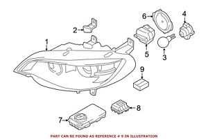 For Bmw Genuine Headlight Restoration Kit Front Right 63117205838